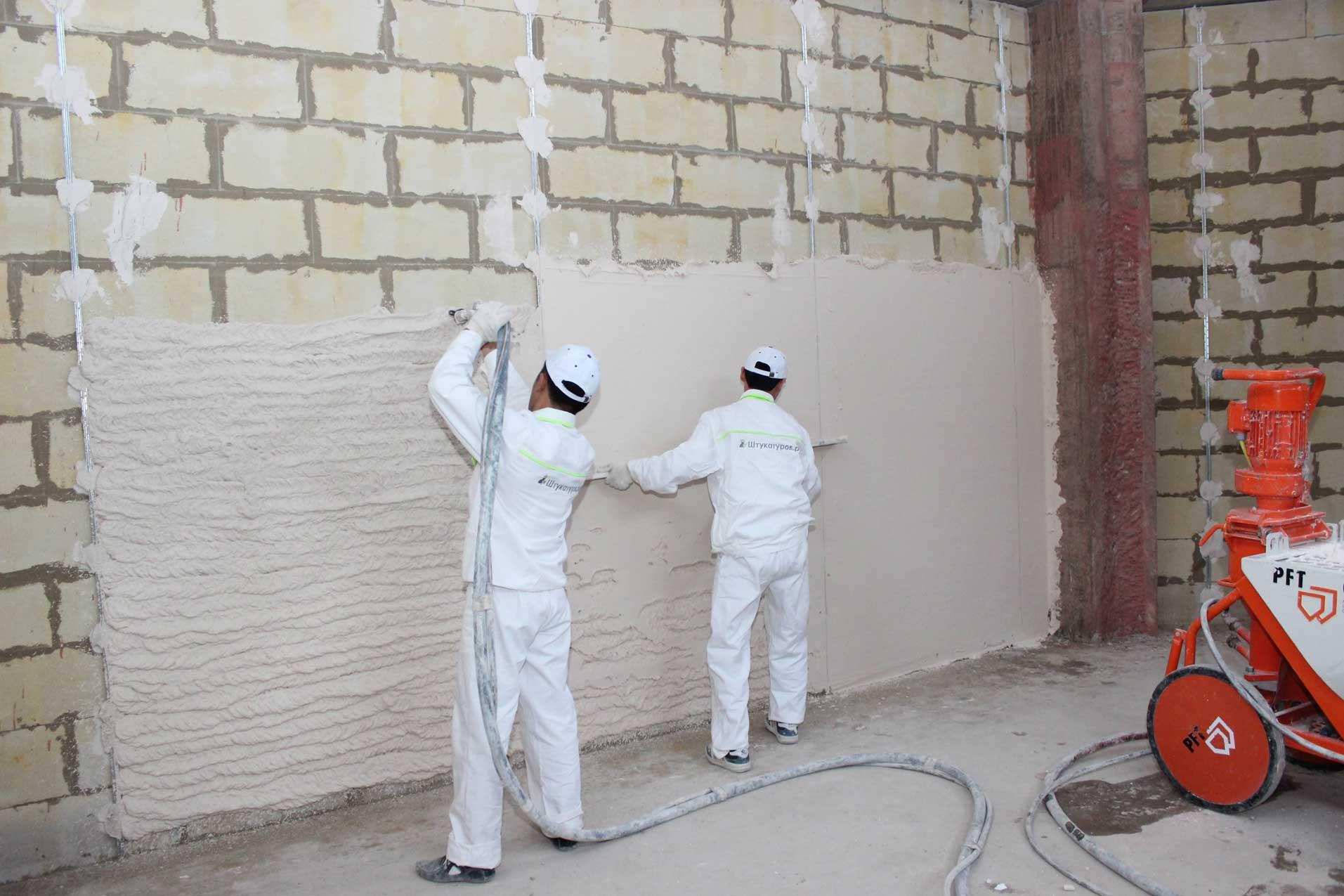 штукатурка стен под правило